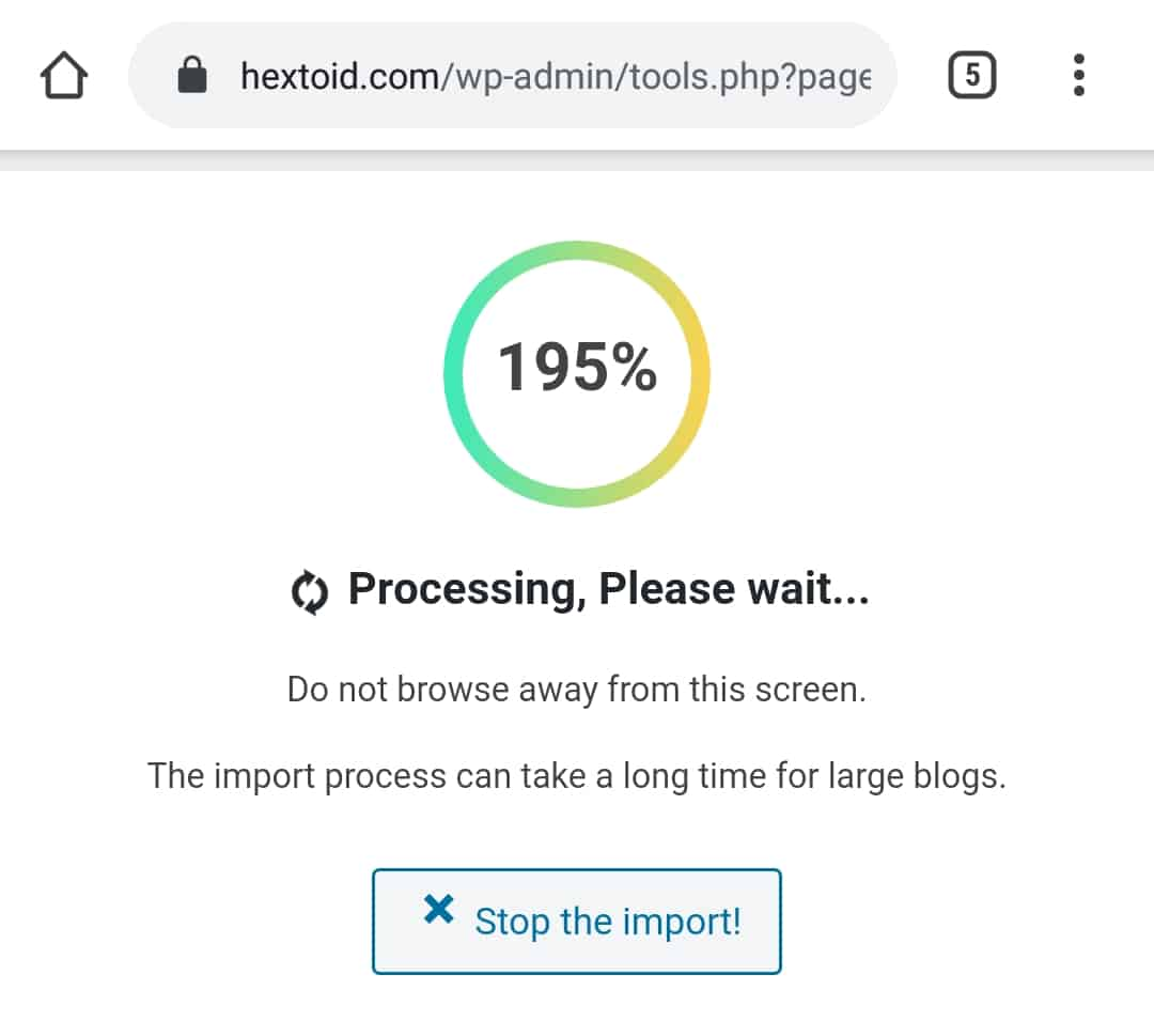 Error After Limit
