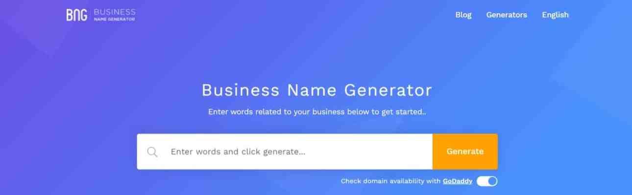 Business Name Generator: FREE Business & Company Name Generator