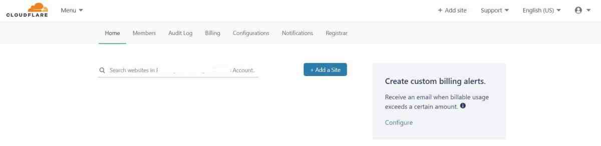 Log in / Sign up in Cloudflare > Click Add Site