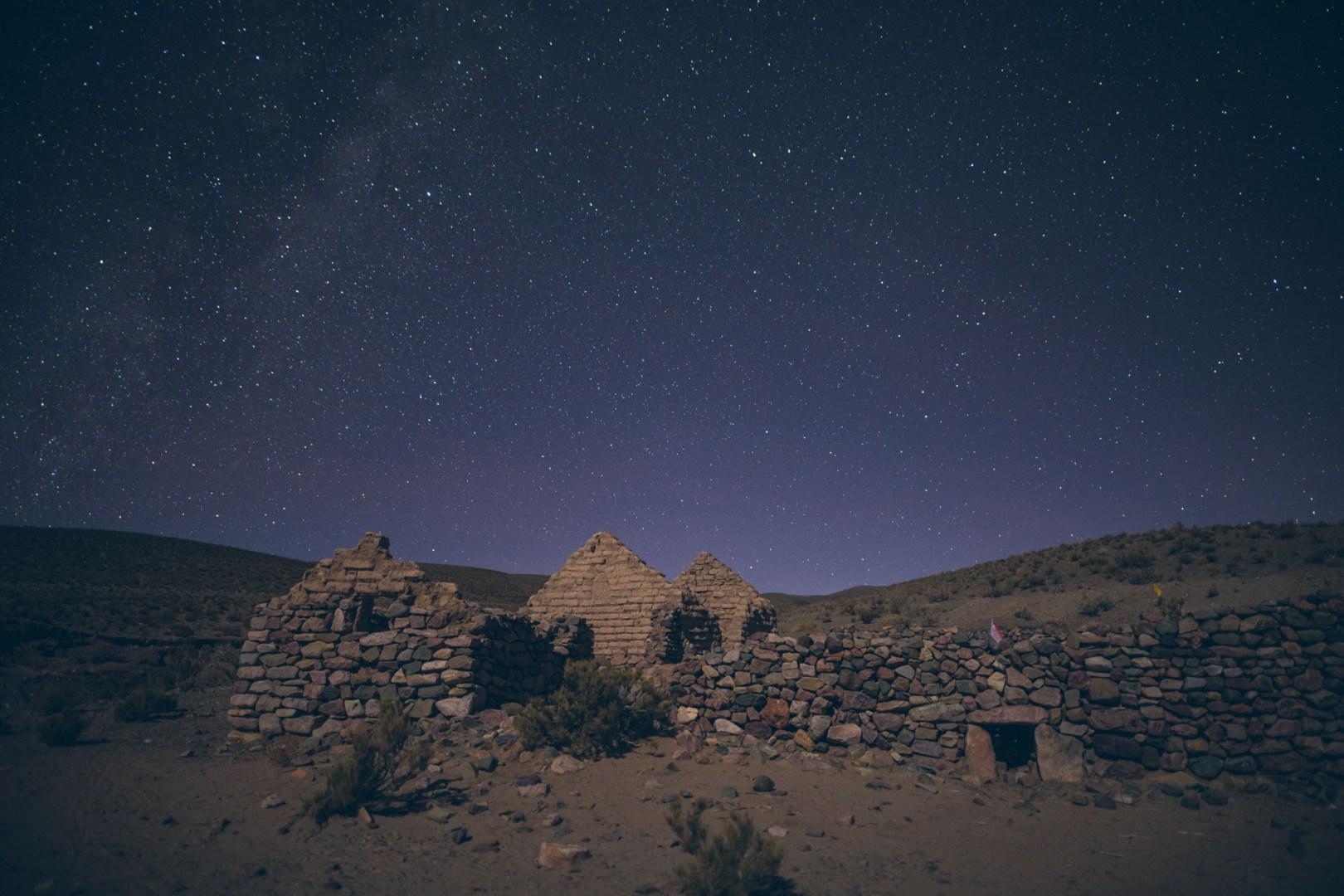 Nuit étoilée en bivouac