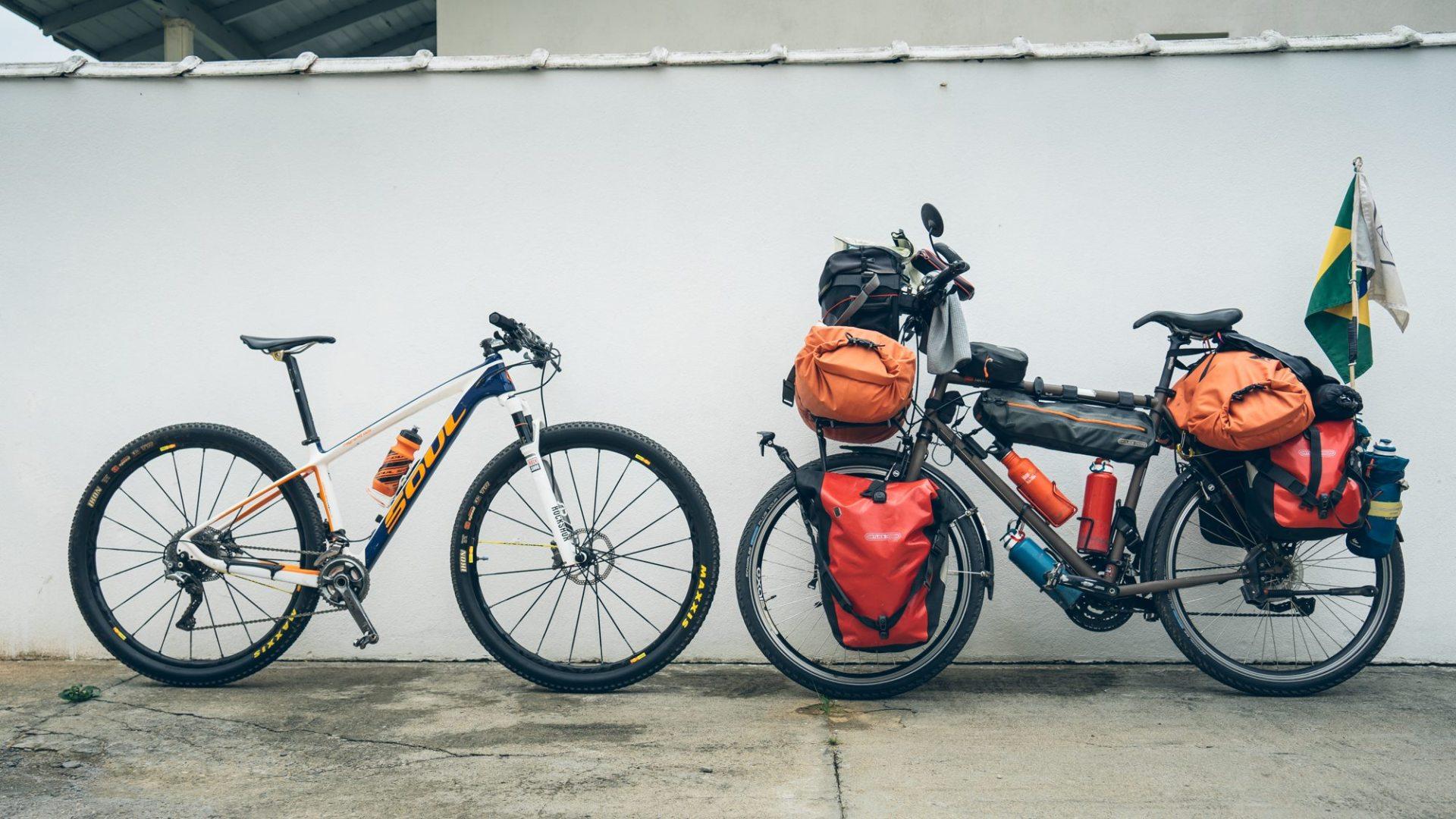 Le vélo d'Eduardo et celui de Guillaume