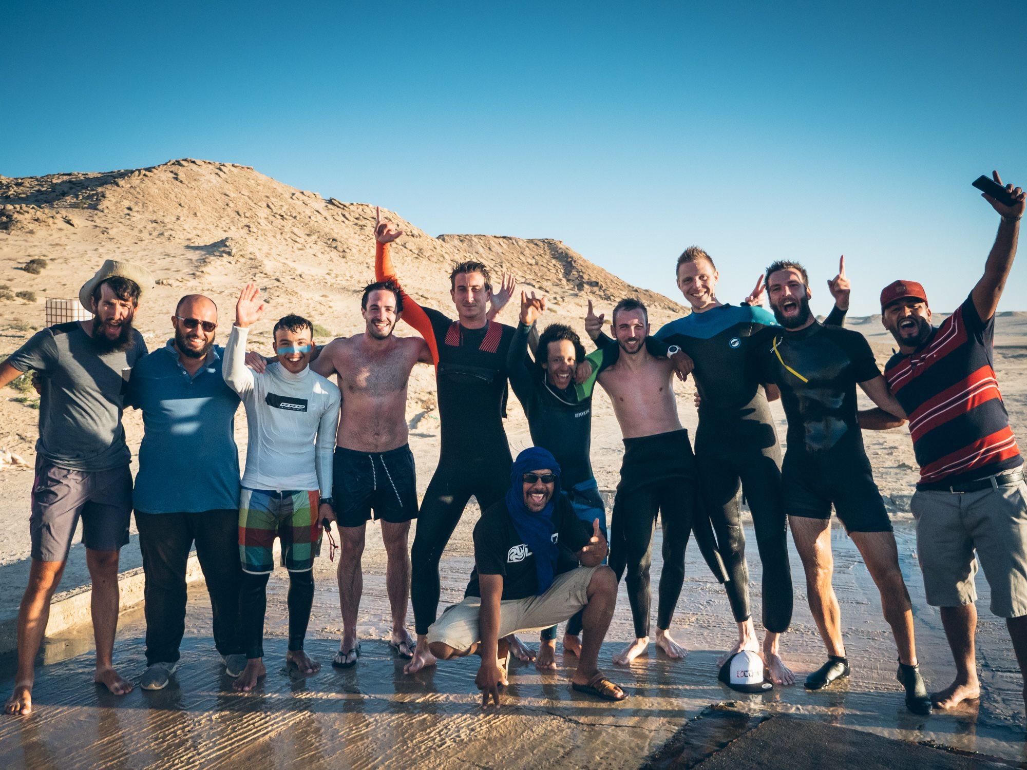 La team de Kitesurfeurs