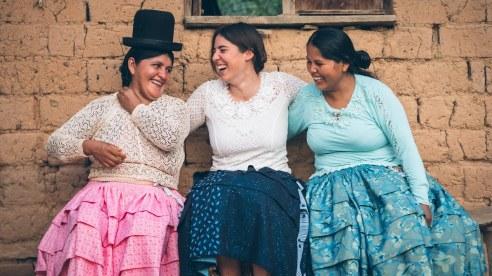 Et voila Maïwenn en tenue cholitas