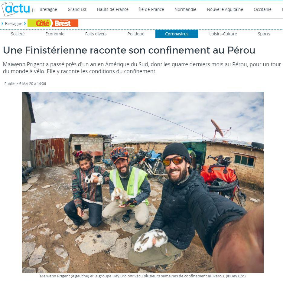 Presse - Côté Brest le 6 mai 2020
