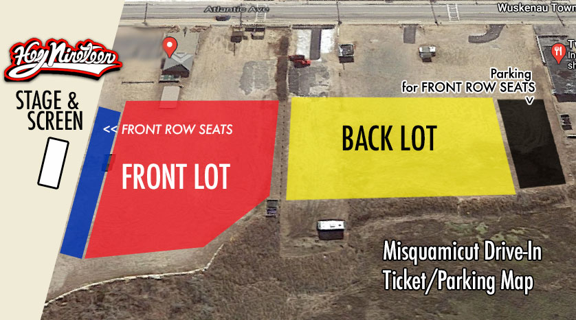 Misquamicut Drive-In Ticket/Parking Map for Hey Nineteen