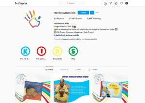 Rainbow Me Kids Instagram account managed by Hey Awesome Girl