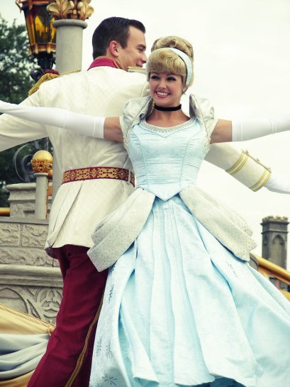 Disney Princess - Cinderella and Prince Charming doing a little dancing.