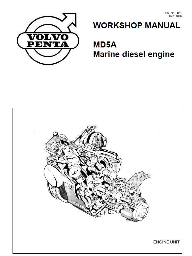 Volvo Penta Md5a Marine Diesel Engine Service Repair