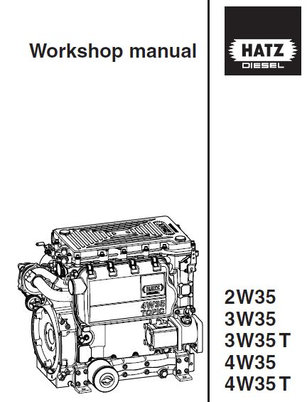 HATZ 2W35, 3W35, 3W35T, 4W35, 4W35T Diesel Engine Service