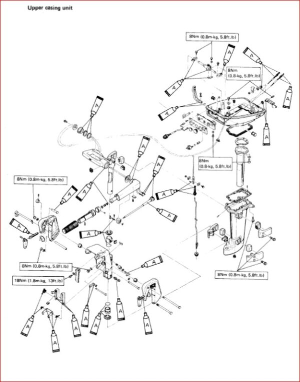 Yamaha 6 8hp 2 stroke Outboards Repair Manual 1984-1993