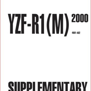 Yamaha R125 Yzf r125 Factory Service Repair Manual 2008