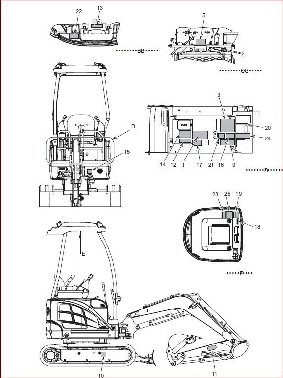 Ingersoll Rand ZX75, ZX125 Load Excavator Shop Manual