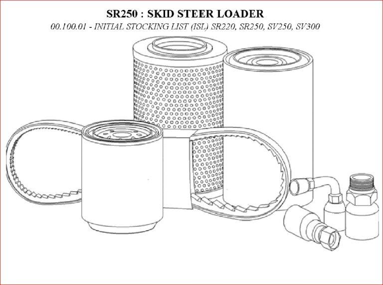 Case Sr250 Skid Steer Loader Parts Catalog Manual- PDF