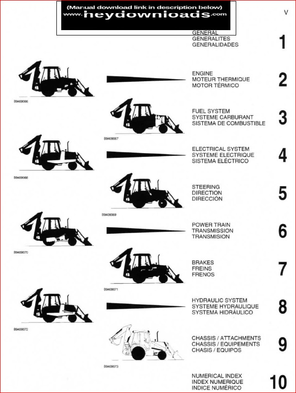 Case 580m 580 Super M Loader Backhoe Tractor Parts Manual