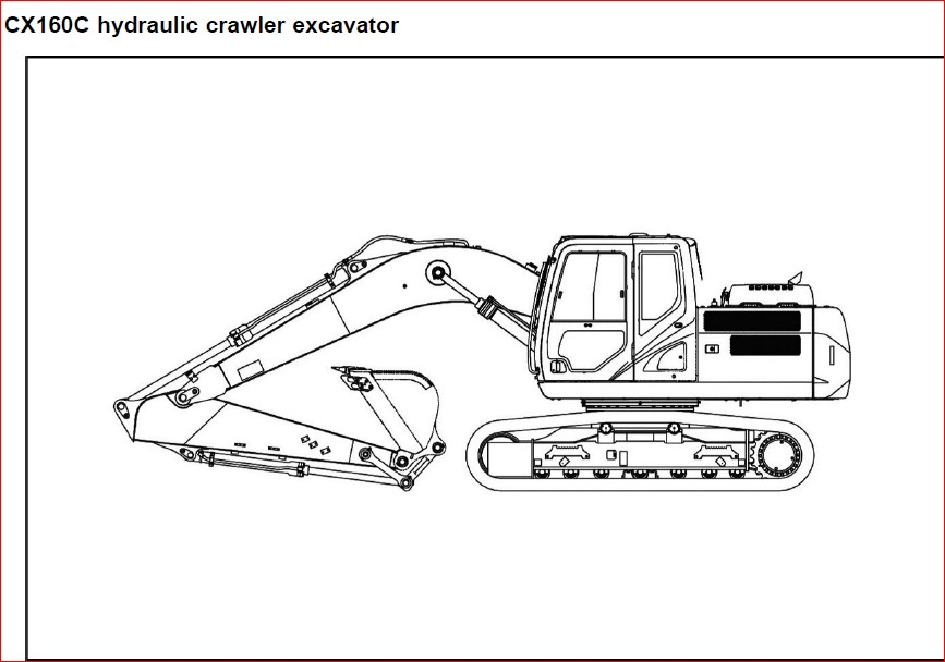 Case Cx160c Tier 4 Crawler Excavator Operators Manual