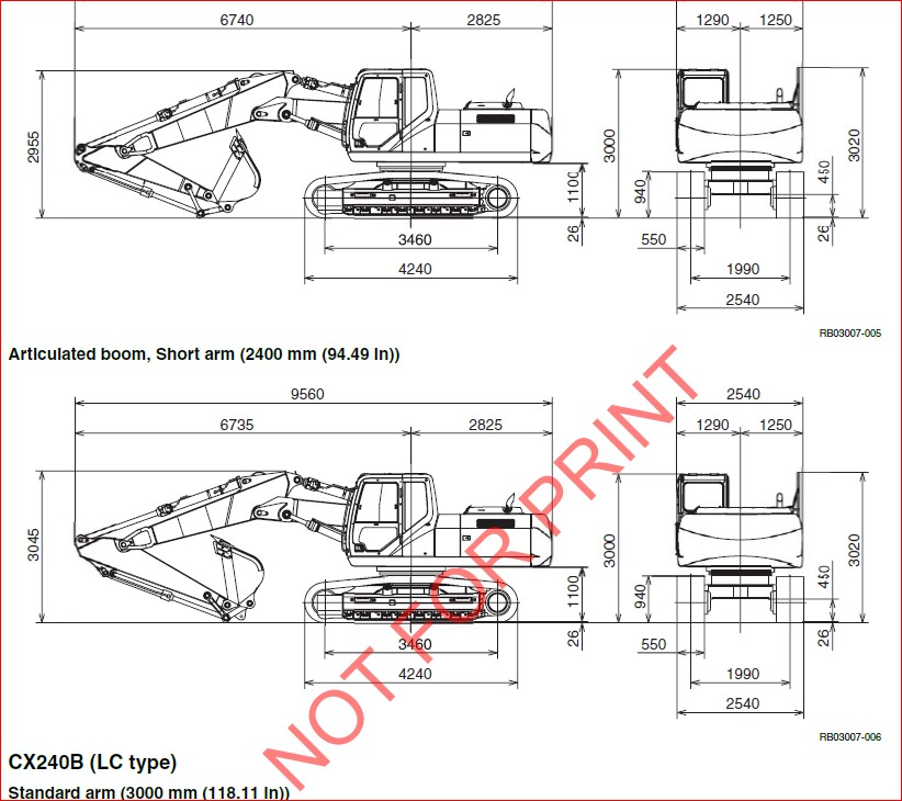 CASE CX210B CX230B CX240B CRAWLER EXCAVATOR SERVICE REPAIR