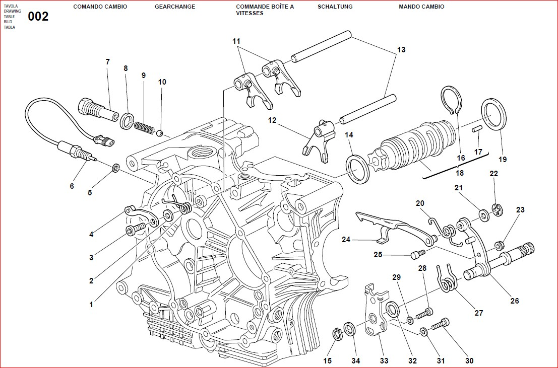 Ducati Monster 1000s Motorcycle Parts And Assembly Manual