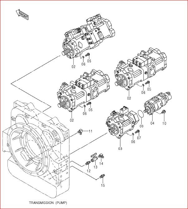 Hitachi Ex1900-6 Excavator Parts Catalog Manual SN 001001