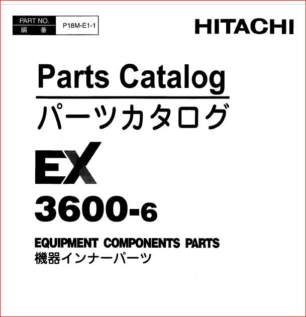 Hitachi Ex3600-6 Excavator Equipment Components Parts