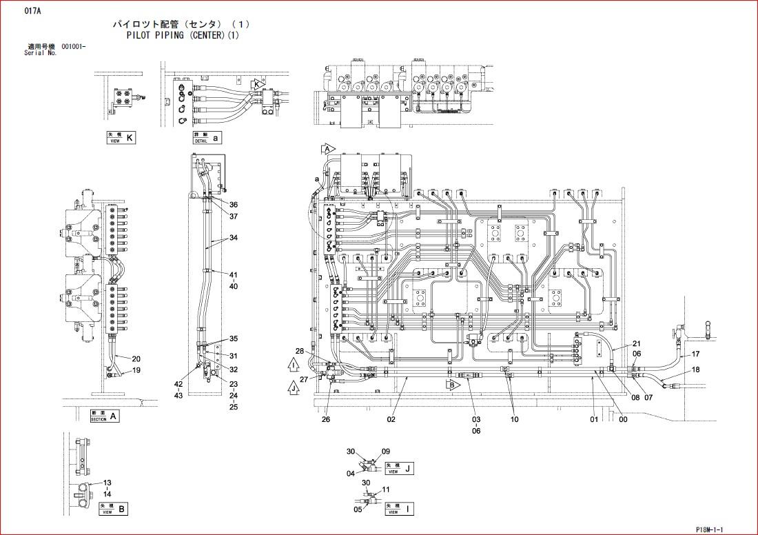 Hitachi Ex3600-6 Excavator Parts Catalog Manual SN 001001
