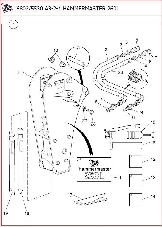 Jcb 8030 Zts Mini Crawler Excavator Parts Catalogue Manual