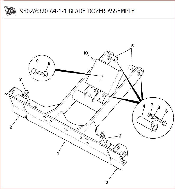Jcb Micro 8008 Parts Catalogue Manual Sn 00763500-00764676