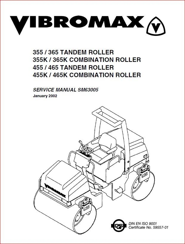 Jcb Vibromax 355 365 455 465 Tandem Roller And 355k 365k