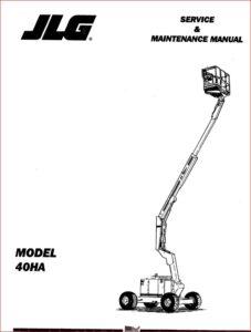 Jlg Boom Lifts 40ha Service Repair Workshop Manual P/N