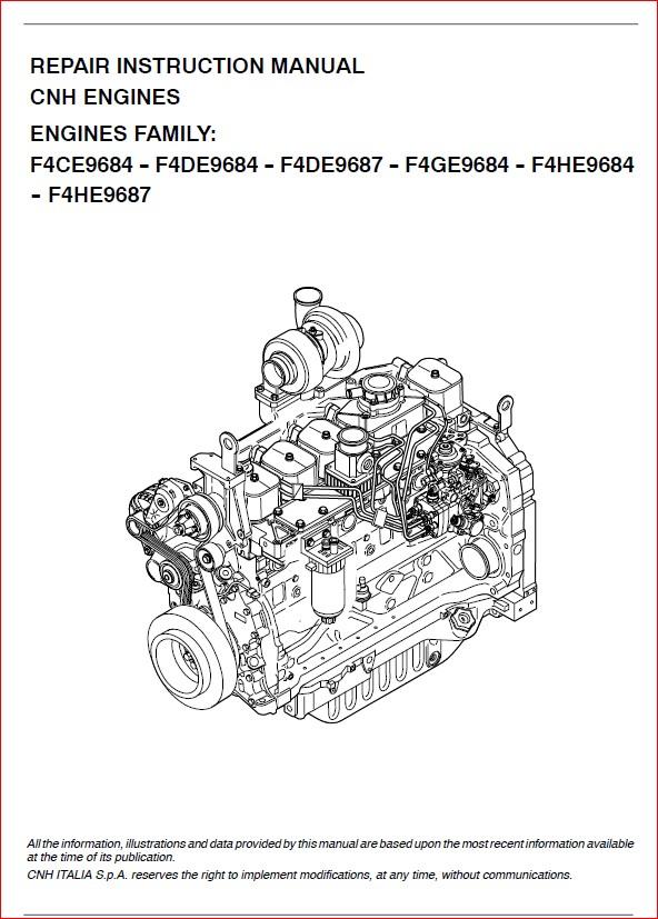 new holland engine cnh nef f4ce f4de f4ge f4he 6 cylinders