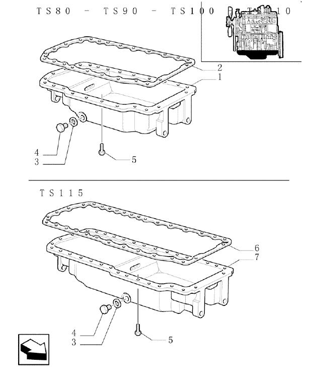 New Holland Ts90 Ts100 Ts110 Ts115 Parts List Manual