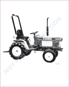 NEW HOLLAND FORD 1220 TRACTOR WITH POWER STEERING