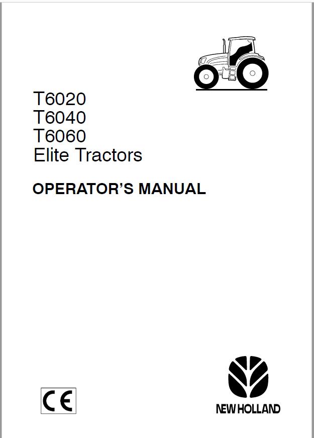 New Holland T6020 T6040 T6060 Elite Tractors Operators