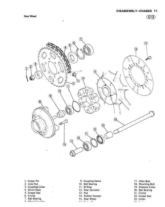 1984 Kawasaki Gpz 750 Motorcycle Service Repair Manual