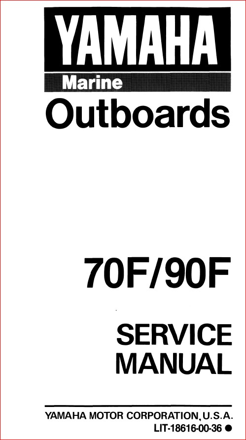1989 Yamaha 90 Etlf Outboard Service Repair Maintenance