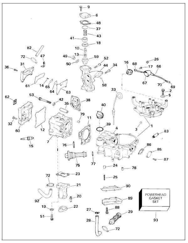 2004 Johnson Evinrude 6hp 4-stroke Parts Catalog Manual