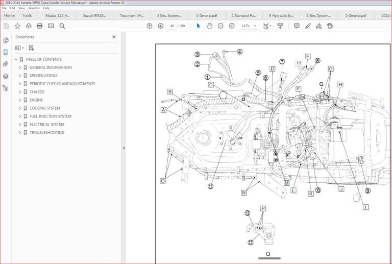 2011-2014 Yamaha Zuma 50 Yw50 Yw50f Service Manual Repair