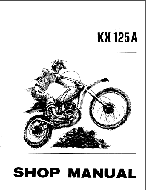 Kx125 Kx 125 1974 2 Service Repair Workshop Manual Instant
