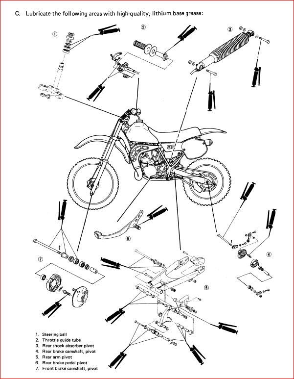 Yamaha Yz80 Yz 80 1985 85 Service Repair Workshop Manual