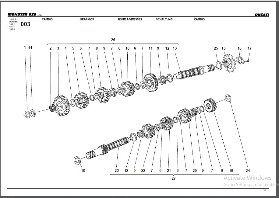 Ducati Monster 620 Parts Manual Catalog Download 2002-2003