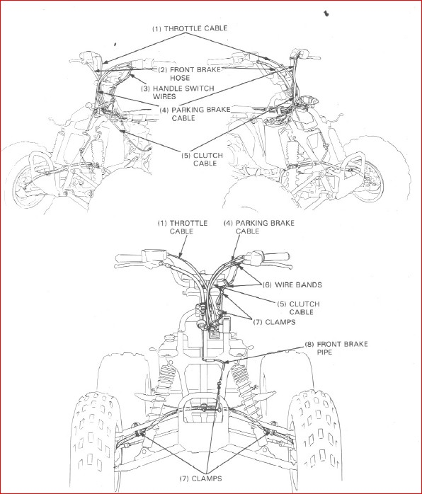 Honda Trx250r Fourtrax Service Repair Manual 1986-1989