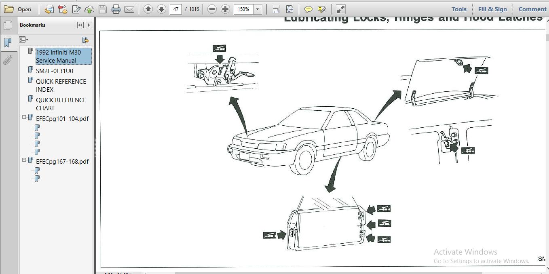 FREE Infiniti M30 M35 M45 Service Manual 1990-2013 PDF