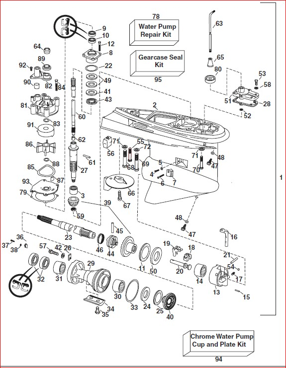 Johnson Evinrude 75hp 90hp E tec 2004 Parts Catalog Manual