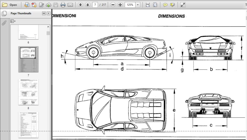 Lamborghini Diablo Vt 1993-1998 Workshop Service Manual