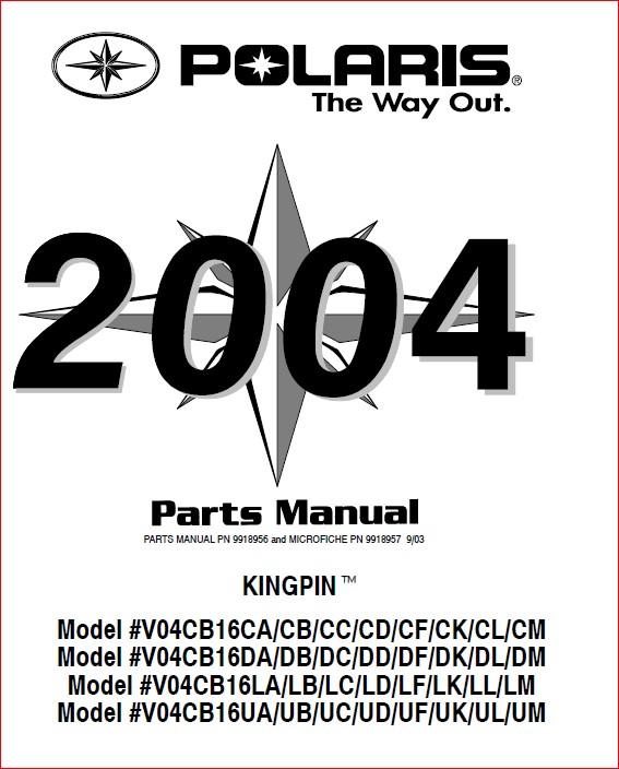 Polaris Service Repair Manual Atv Hawkeye 300 2x4 4x4 2000