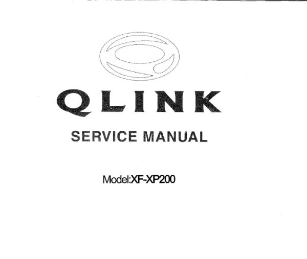 Qlink Xf200 Xp200 Motorcycle Digital Workshop Repair