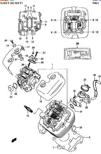 Suzuki Vl125 A4121 Parts Manual Catalog Download 2000-2001