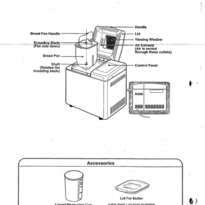 Toastmaster Platinum Bread Butter Maker Parts Model 1199s