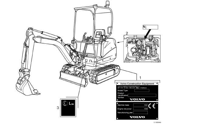 Volvo Ec13 Xtv Ec13xtv Compact Excavator Workshop Service