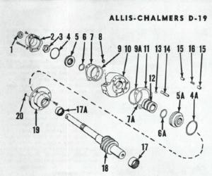 Allis Chalmers D19 D-19 Diesel Tractor Complete Service