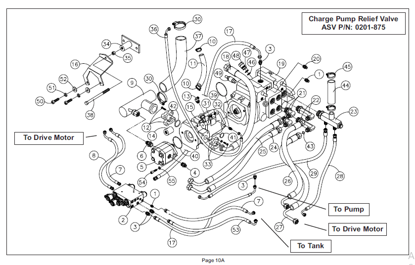 Asv Posi track Rc 100 Track Loader Master Parts Manual